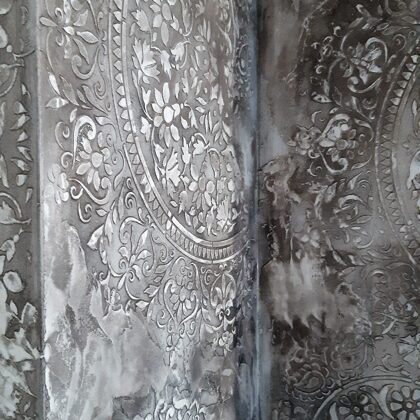dekorativní stěrka efekt Stencil