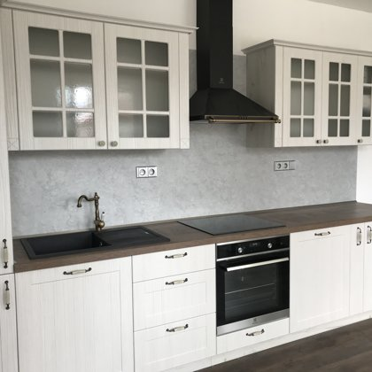 Dekorativní stěrka kuchyň a obývací pokoj