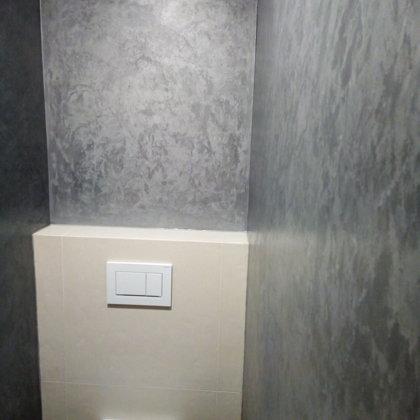 Dekorativní stěrka WC