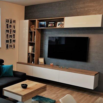 Dekorativní stěrka obývací pokoj