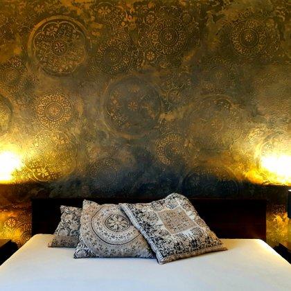 Dekorativní stěrka ložnice Mandala