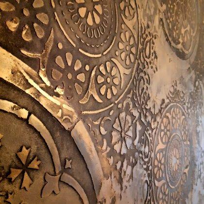 Dekorativní stěrka ložnice