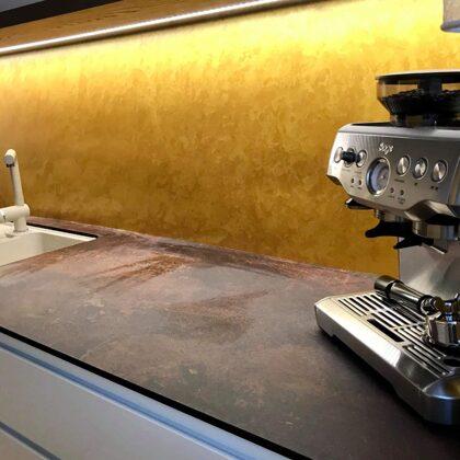 Dekorativní stěrka benátský štuk zlatá