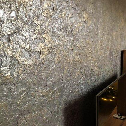 Dekoratiní stěrka obývací pokoj